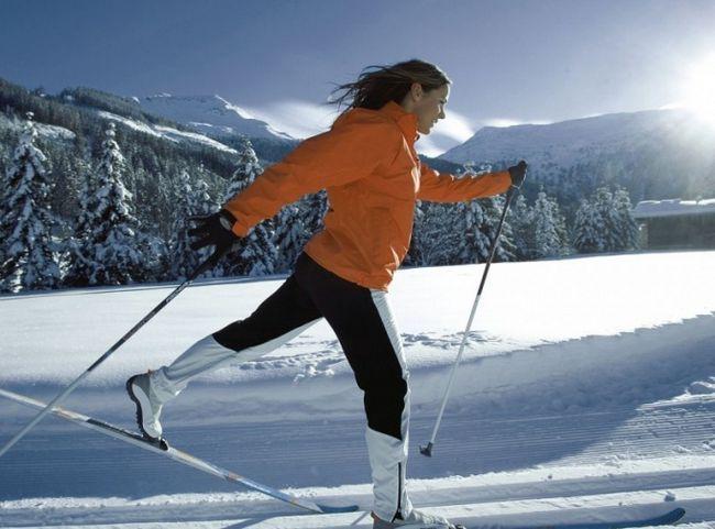 Как кататься на беговых лыжах