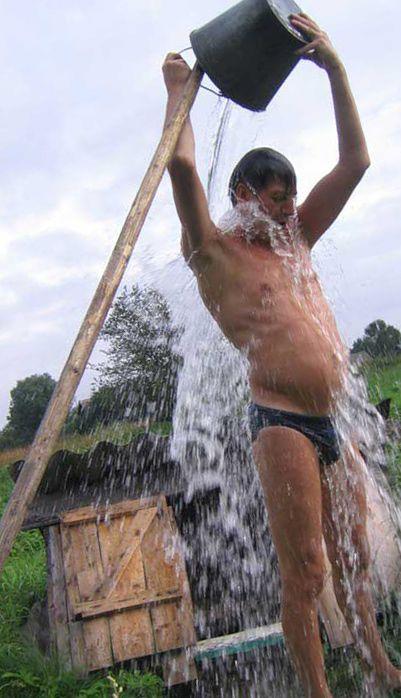 Как обливаться холодной водой