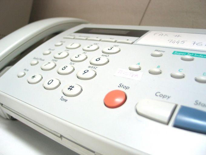 Как передать факс