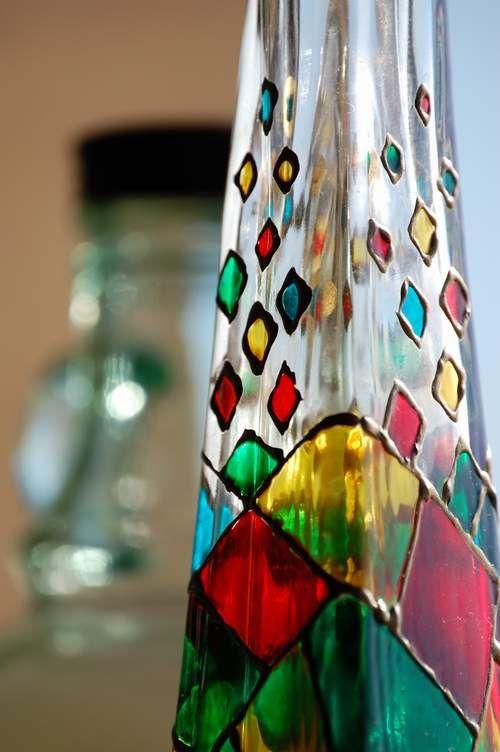 Как сделать декоративные бутылки