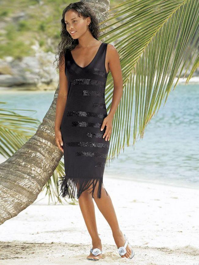 Как сшить платье с бахромой