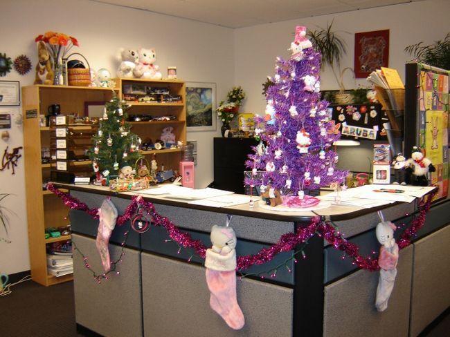 Как украсить офис в новый год