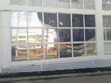 Как украсить окно тонировочной пленкой