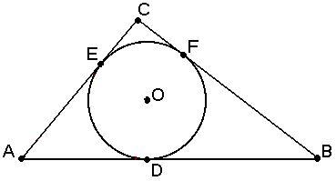 Как вписать треугольник в окружность
