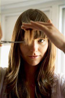 Как выстригать челку