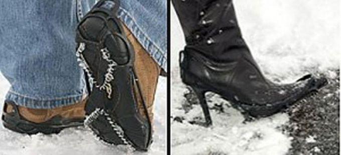 Как сделать обувь не скользящей
