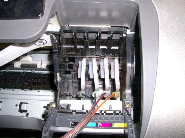 Как снять головку принтера