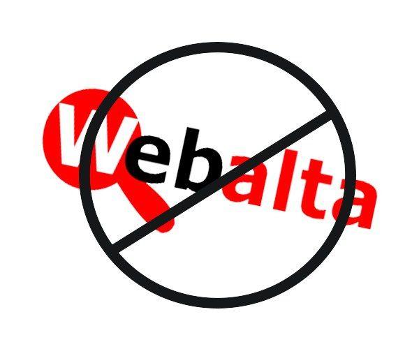 Как убрать webalta